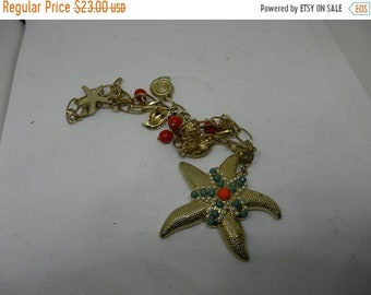 Spring Sale Vintage Costume Jewelry StarFish Necklace
