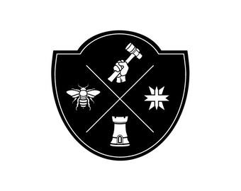 Custom Family Crest + Coat of Arms + Modern Heraldry