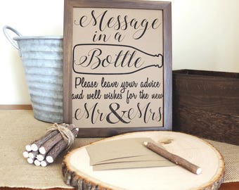 Message in a bottle sign PRINTABLE FILE Message in a