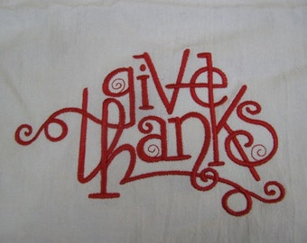 Give Thanks - DISCOUNTED FOR FLAW
