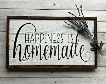 Happiness is Homemade | Pallet Sign | Wood Sign | Farmhouse | Rustic | Kitchen Sign | Kitchen Decor | Farmhouse Kitchen | Country Kitchen