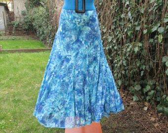 Long Skirt Vintage / Maxi / Elastic Waist / Lining / EUR 40 / 42 / UK12 / 14 / Nice Fabric