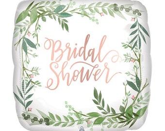 Elegant Greenery Bridal shower balloon/ bridal balloons / bridal shower  balloons/ bride/ bridal shower/rose gold bridal shower balloon/