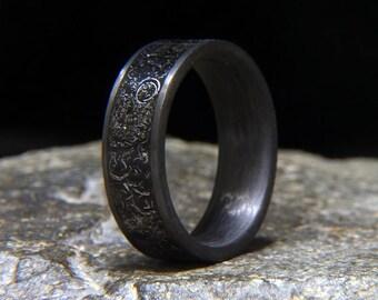 Mens meteorite ring Etsy