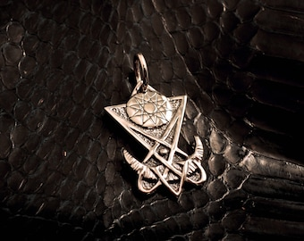 Eosphoros, the dawn-bringer pendant, 925 sterling silver, Lucifer, Phosphorus, Venus, sigil, occult, magick, pentacle, witch, witchcraft