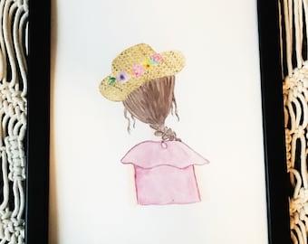 Summer Braid Watercolor (brown)
