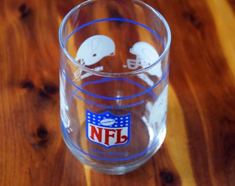 NFL Western Division Collectors Drinking Glass/New Orleans Saints/San Francisco 49ers/Atlanta Falcons/Los Angeles Rams/1977 - 1994 Division