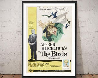 The Birds, 1963 - Theatrical Release (A3 Replica Poster) - Digital Download