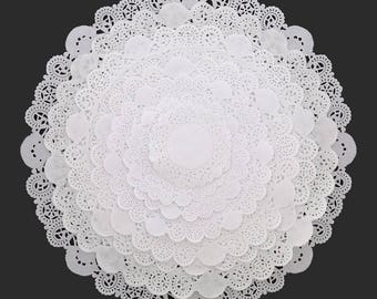 "10"" Paper Lace Doily, 50 White Pape Doilies, 10"" Paper Doily, Wedding Doilies,Party Decor Doilies, Wedding Decor, Bridal Shower, Baby Shower"