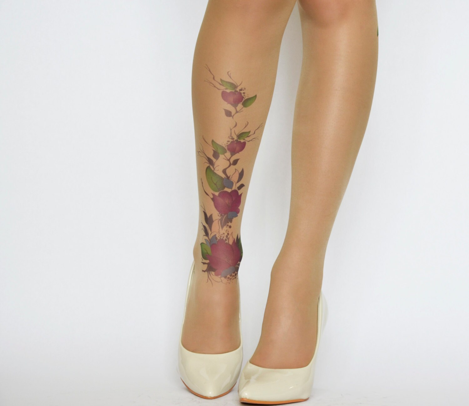 Girls with tattoos in pantyhose