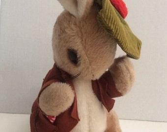 "Vintage Eden Beatrix Potter Stuffed Toy Benjamin Bunny 16"" Easter Decor"