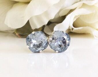 Swarovski crystal earrings, gray earrings, gray wedding, bridesmaids gifts, bridesmaids earrings, birthday gift, gifts for her, wedding gift