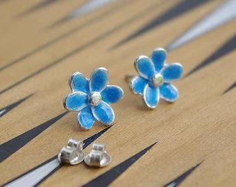 Handmade sterling silver earrings. silver earrings. Jewelry ennamel
