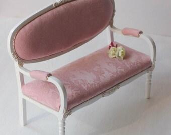 Sofa for 1 / 6 doll ( 25 - 33 cm / 9.84 - 13 inch )