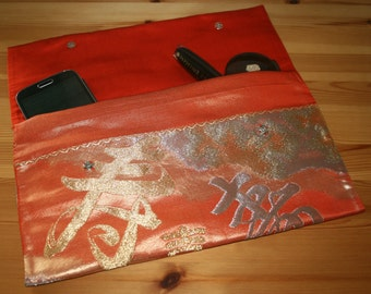 Vintage Japanese Obi Silk Clutch Bag