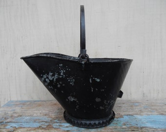 Charming Vintage Metal Coal Bucket