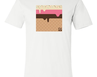 T-SHIRT KOMOA Minimal ice cream (Black ou White)