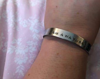 I Am a Wayward Sister Hammered Cuff Bracelet