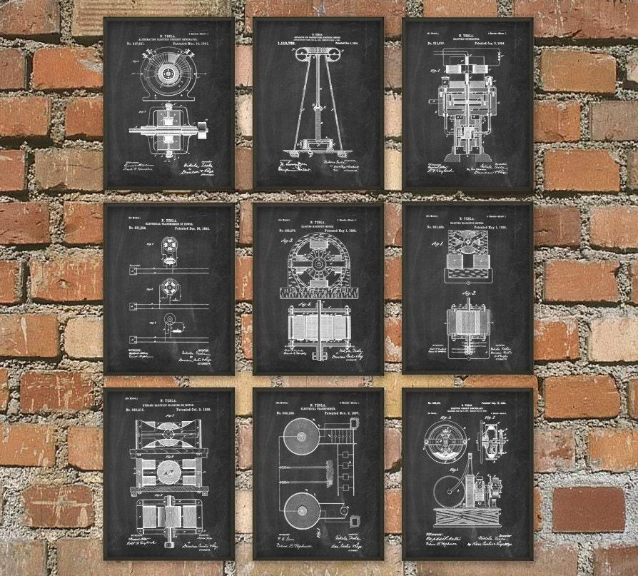Tesla patent prints nikola tesla engineering invention zoom malvernweather Gallery