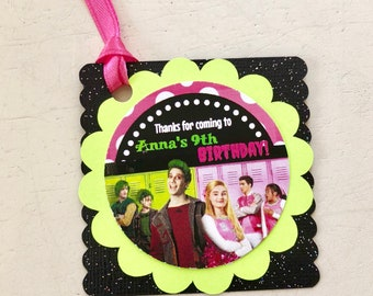 12 Personalized Disney Zombies Inspired Birthday Party Favor Tags