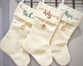 Burlap Syle Personalized Stocking