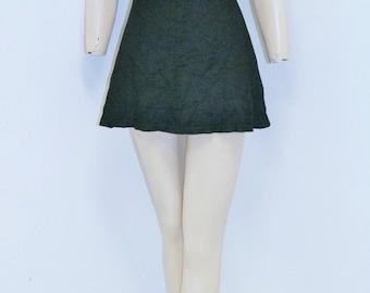 Vintage Early 1930's Jantzen Black Swimsuit Playsuit Romper Bathing Suit Size M