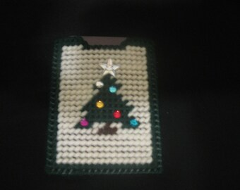 Plastic Canvas Christmas Tree Gift Card or Money Holder