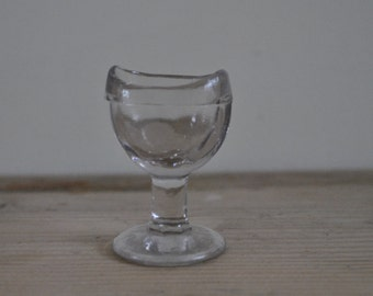 Vintage glass eye wash - bubbles in glass - Made in Britain