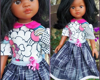 Dress for 32cm Paola Reina doll.