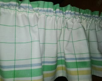"""SORBET STRIPE Valance Woven Stripe Cotton 52"""" x 14 1/4"""" Limited time available!"""