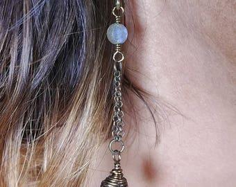 Amethyst and Labradorite Earrings