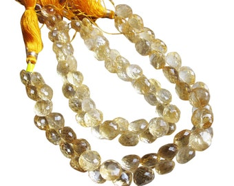 Citrine Briolette Beads, Luxe AAA, Onion Briolettes, 5.5-6.5mm, November Birthstone, SKU 2052A