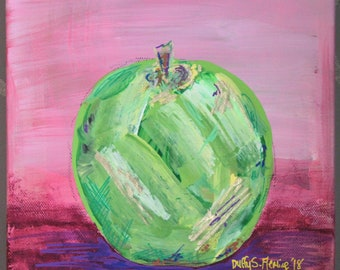Granny Smith Apple Abstract Painting