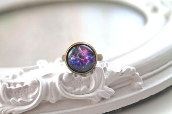 Galaxy ring  feminine black purple star night planet astronomy science
