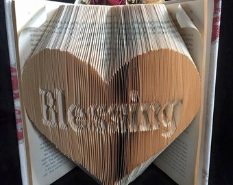Half Price Sale - Blessing In A Heart - Book Folding Pattern