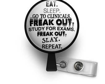 Med/Nursing School Student Life Retractable ID Badge Reel