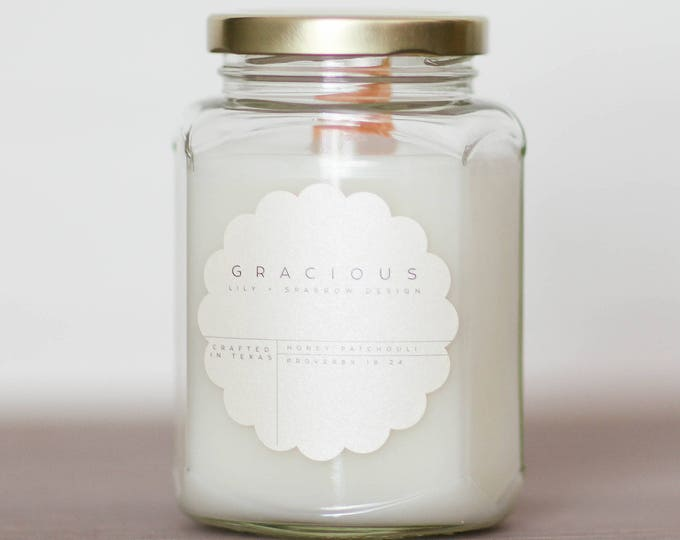 Featured listing image: Gracious || 12 oz. Soy Candle