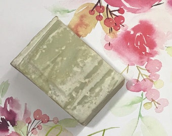 Green tea fragrance free handmade soap
