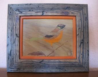 Orange bird painting