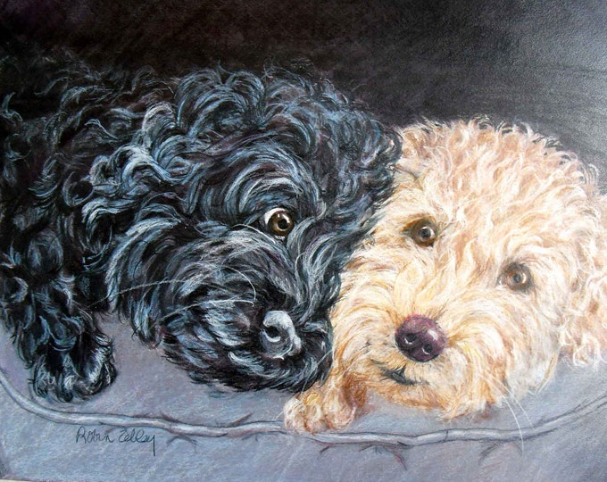 Custom Pet Portrait Oil Painting, Personalized Dog Portrait, Dog Oil Painting Artist Robin Zebley, Custom Portrait Art