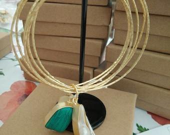 22 ct Gold plated bangel