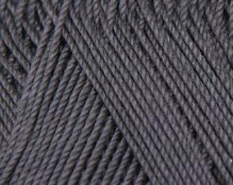 Crochet thread size 10, mercerized cotton, ANNA, 100g/ 579 yds #376 dark gray