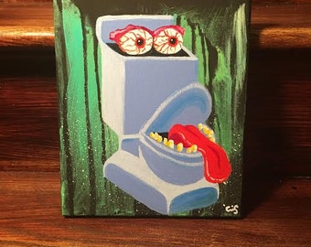Real Ghostbusters Fearsome Flush Acrylic on Canvas