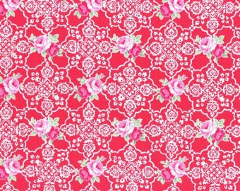 Flower Sugar Fall 2016 Sweet Carnival Collection Cotton Fabric by Lecien 31377-30  Red Lace
