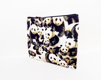 Pencil Case/ Panda Gift for Her/ Coworker Gift/ Bridesmaid Gift/ Wife Gift/ Gift for Women/ Make Up Bag/ Mothers Day Gift/ BFF Gift/ Pouch