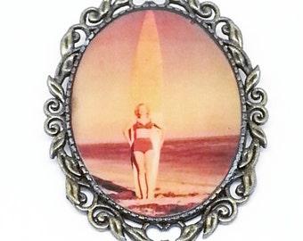 Handmade jewelry, Surf Vintage brooch
