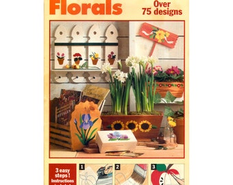 90s Make It W503 Florals Iron-On Transfers with over 75 Floral Designs for Craft Projects, Factory Folded, Uncut Various Sizes