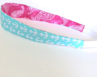 Reversible headband cotton with elastic