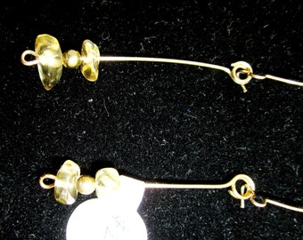 Earrings J Citrine November birthstone, gold kidney wires 6.5ct