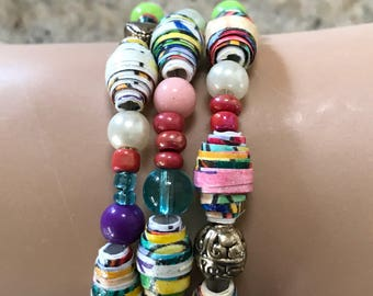 Beaded bracelet made from childs drawing